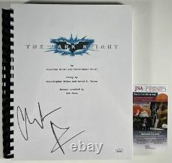 Christian Bale Signed The Dark Knight Full Movie Script Autograph Batman JSA COA