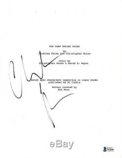 Christian Bale Signed The Dark Knight Rises Movie Script Screenplay Beckett Coa