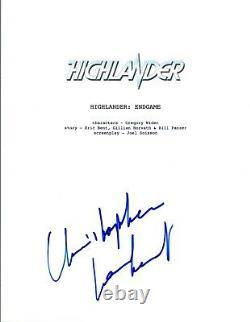 Christopher Lambert Signed Autographed HIGHLANDER ENDGAME Movie Script COA VD