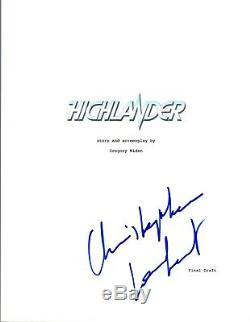 Christopher Lambert Signed Autographed HIGHLANDER Full Movie Script COA VD