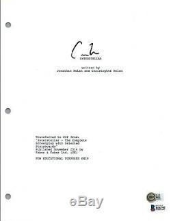 Christopher Nolan Signed Autograph INTERSTELLAR Movie Script Beckett BAS COA