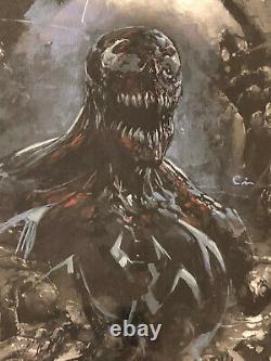 Clayton Crain ORIGINAL Sketch Art 9.8 VENOM Signed Painted Movie Comic Book