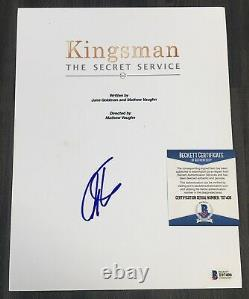 Colin Firth Signed Kingsman The Secret Service Movie Full Script Beckett Bas