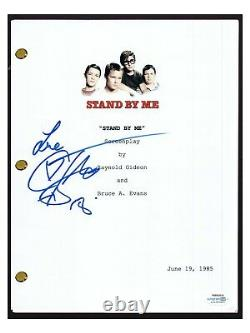Corey Feldman Signed Autographed STAND BY ME Full Movie Script ACOA Witnessed
