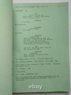 DEATH CAR ON THE FREEWAY (1978) Original Movie Script Hal Needham Psycho Driver
