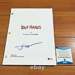 DEVON SAWA SIGNED IDLE HANDS FULL PAGE MOVIE SCRIPT with BECKETT BAS COA