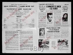 DIAMONDS ARE FOREVER BRITISH CAMPAIGN BOOK SHOWS RARE 16-Sheet MOVIE POSTER