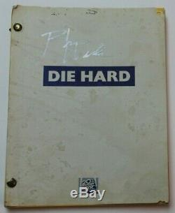 DIE HARD / Jeb Stuart 1988 Screenplay, classic Bruce Willis NYPD action film
