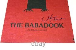 DIRECTOR JENNIFER KENT SIGNED'THE BABADOOK' 12x18 MOVIE POSTER PHOTO 2 COA BOOK