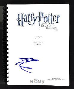 Daniel Radcliffe Signed Harry Potter Deathly Hollows 2 Movie Script BAS #H14992