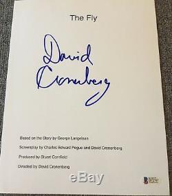 David Cronenberg Signed Autograph The Fly Movie Script Beckett Bas Coa
