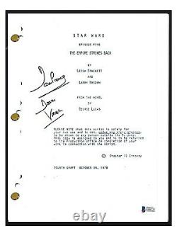 David Prowse Signed STAR WARS THE EMPIRE STRIKES BACK Movie Script Beckett COA