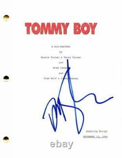 David Spade Signed Autograph Tommy Boy Full Movie Script Chris Farley, Snl