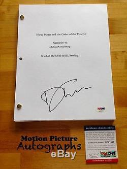 David Thewlis Signed Harry Potter Order Phoenix Movie Script Full 202 Pages Psa