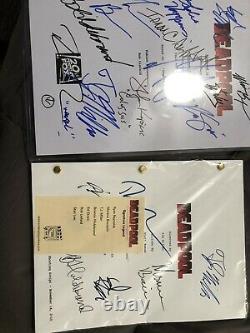 Deadpool movie script signed STAN LEE xmen COA 12 Autograph