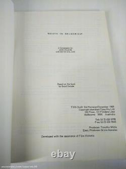 Death In Brunswick 1990 Movie Genuine Production Used Film Script Numbered Copy