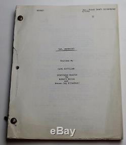 Doctor Detroit 1982 Movie Script Screenplay Dan Aykroyd as a flamboyant pimp