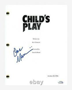 Don Mancini Signed Autograph CHILD'S PLAY Movie Script Chucky Director ACOA COA