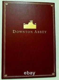 Downton Abbey Movie Screenplay Script Signed Maggie Smith & Cast Leather Promo