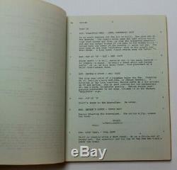EARTHQUAKE / George Fox 1973 Screenplay, classic Charlton Heston disaster film
