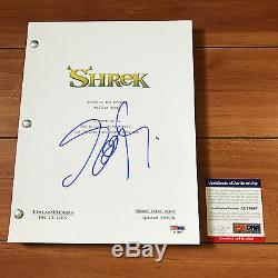 EDDIE MURPHY SIGNED SHREK FULL 115 PAGE MOVIE SCRIPT with PROOF & PSA DNA COA