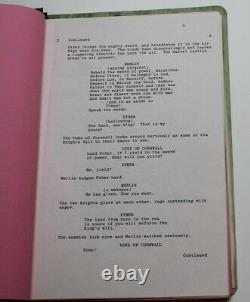 EXCALIBUR / Rospo Pallenberg 1981 Movie Script Screenplay, Early Undated Draft