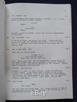 E. T. The Extraterrestrial Original Film Script Steven Spielberg Rare