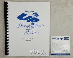 Ed Asner Carl Fredricksen Autograph Signed UP Movie Script ACOA 2009 Film
