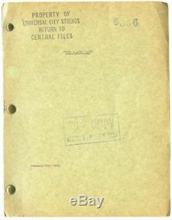 Edgar Allan Poe BLACK CAT Original screenplay for the 1941 film #126195