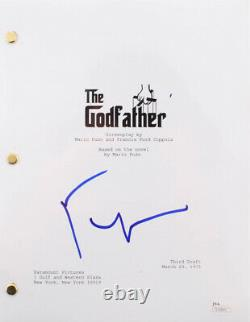 FRANCIS FORD COPPOLA SIGNED ORIGINAL THE GODFATHER FULL MOVIE SCRIPT withJSA COA
