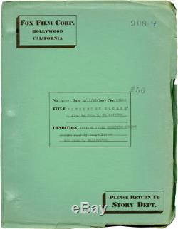 Frank Lloyd BERKELEY SQUARE Original screenplay for the 1933 film #116129