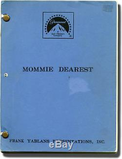Frank Perry MOMMIE DEAREST Original screenplay for the 1981 film 1980 #142605