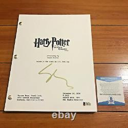 GARY OLDMAN SIGNED HARRY POTTER & THE DEATHLY HALLOWS PART 2 MOVIE SCRIPT with COA