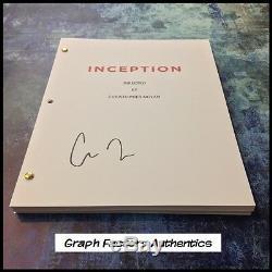 GFA Inception Director CHRISTOPHER NOLAN Signed Full Movie Script EJ2 COA