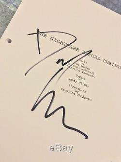GFA The Nightmare Before Christmas DANNY ELFMAN Signed Movie Script AD1 COA