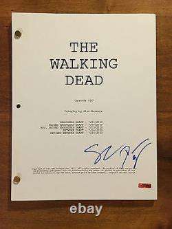 GFA The Walking Dead DANAI GURIRA & STEVEN YEUN Signed Script AD1 COA