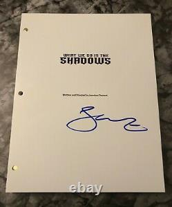 GFA What We Do in the Shadows JEMAINE CLEMENT Signed Movie Script AD1 COA