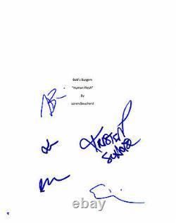 GFA x5 Cast TV Stars BOB'S BURGERS Signed Script Cover MH2 COA