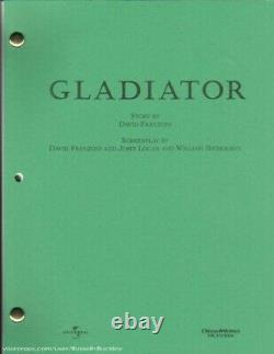 GLADIATOR' Academy Awards Original MOVIE SCRIPT RARE (Crowe, Scott)