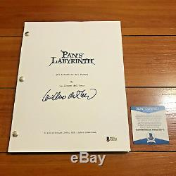 GUILLERMO DEL TORO SIGNED PAN'S LABYRINTH FULL MOVIE SCRIPT with BECKETT BAS COA