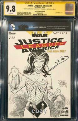Gal Gadot Signed Original Wonder Woman Sketch Cgc 9.8 Comic Book Movie Ww84 Cbcs