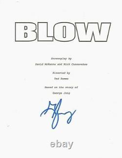George Jung Hand Signed'blow' Movie Film Script Coa Boston Drug Smuggler Proof
