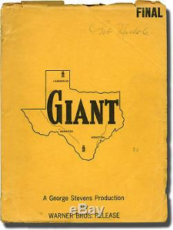 George Stevens GIANT Original screenplay for the 1956 film Bob Nichols' #137508