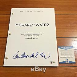 Guillermo Del Toro Signed The Shape Of Water Full Movie Script Beckett Bas Coa