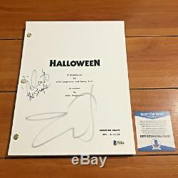 HALLOWEEN MOVIE SCRIPT SIGNED BY JAMIE LEE CURTIS & NICK CASTLE with BECKETT COA