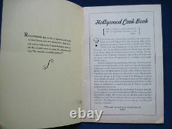 HOLLYWOOD COOKIE BOOK Recipes 1936 C. LOMBARD, S. TEMPLE, C. COLBERT, etc