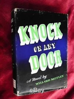 HUMPHREY BOGART, ORIGINAL AUTOGRAPH Signature in Knock On Any Door book/film