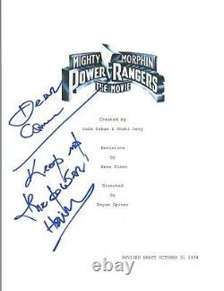 Haim Saban Signed Autographed MIGHTY MORPHIN POWER RANGERS Movie Script COA