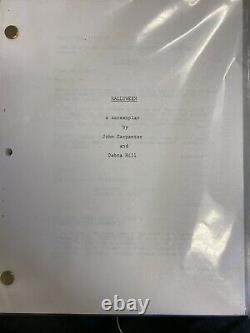 Halloween 1978 Original Film Used Script Rare Horror Michael Myers Prop