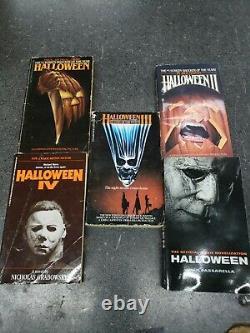 Halloween Michael Myers Movie PB Book Lot Richards Martin Grabowsky Passarella